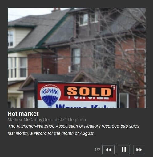 The Kitchener Record: Home Sales In Kitchener And Waterloo Set Record In August