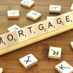 Scrabble letters spelling out MORTGAGE